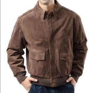 Men's suede bomber jacket xl new